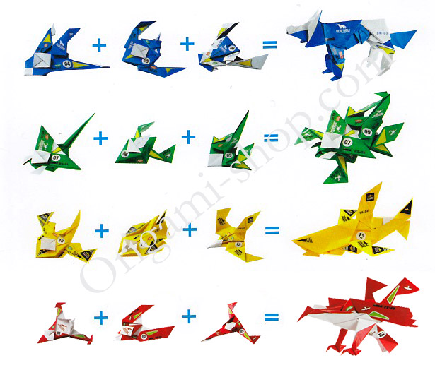 Simple Origami Dinosaur Instructions