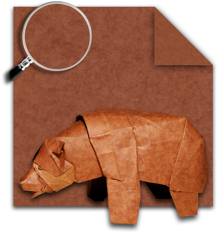 bear hide paper for origami